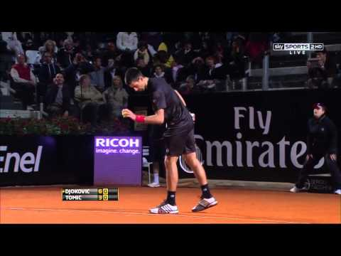 Djokovic vs. Tomic [Rome 2nd Round 2012] HD | PopScreen