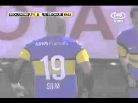 Boca Jrs 1 - U de Chile 0 - Gol de Santiago Silva [Ida] | PopScreen