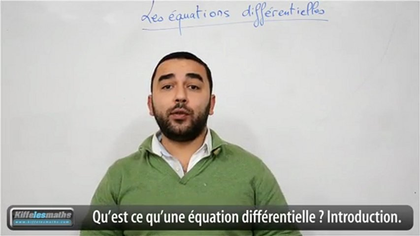Equations différentielles. Introduction | PopScreen