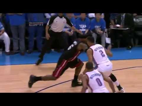 LeBron James's Clutch Bank Shot Heat vs Thunder NBA Finals 6.14.2012 | PopScreen