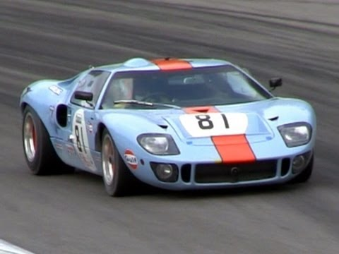 gulf racing ford gt40 mk1 sound on the track popscreen - 1966 Ford Gt40 Gulf