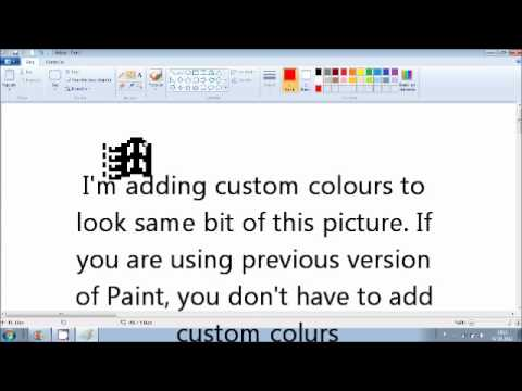 Drawing Windows 95 NT 98 2000 ME Start Button Icon in MS Paint.wmv | PopScreen