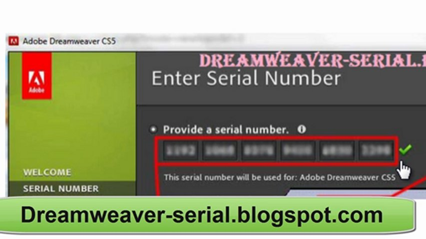 adobe dreamweaver cs5 serial key
