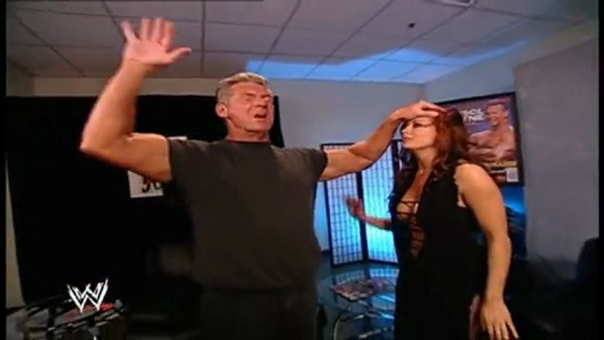 Vince McMahon and Candice Michelle backstage | PopScreen