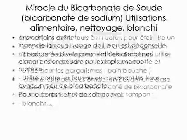 Bicarbonate de soude popscreen for Bicarbonate de soude comme desherbant