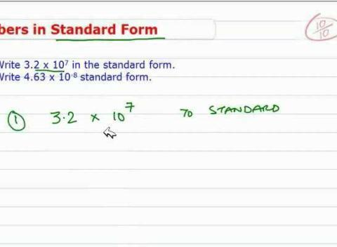 how to write standard form Exponential form is a way of expressing a standard number using a base and a  smaller raised number called an exponent rules for writing in exponential form.