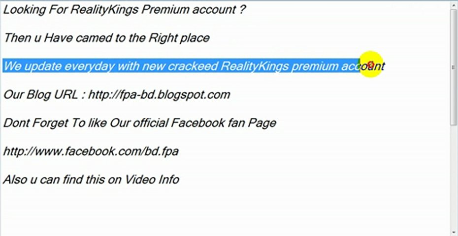 Reality kings account and password 12 17 13 manca info