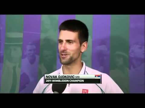 Novak Djokovic vs Radek Stepanek Wimbledon 2012 3rd Round Post-Match Interview | PopScreen