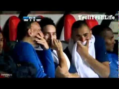 Ribery and Benzema Laughing at Camera France v Estonia | PopScreen