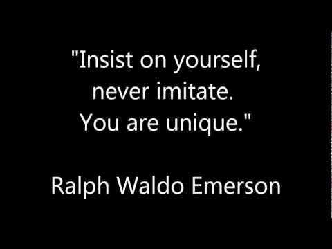 Insist on yourself, never imitate. You are unique. | PopScreen