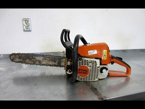 Pull Cord Repair On Stihl MS250 Chainsaw | PopScreen