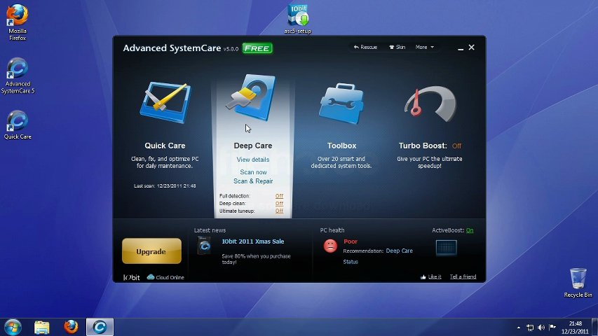 Advanced SystemCare with Antivirus 2013 5.6.3.272 Free