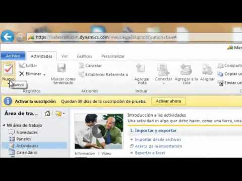 Creacion y demostracion de Actividades con Microsoft Dynamics CRM | PopScreen