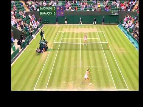 HD Maria Sharapova vs Anastasia Rodionova Round 1 Wimbedon 25.06.2012 | PopScreen