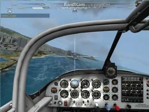 Flight Sim Around Oahu 2.avi オアフ島遊覧飛行第二弾!? | PopScreen
