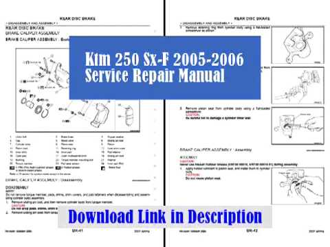 Ktm 250 Sx-F 2005-2006 Service Repair Manual | PopScreen