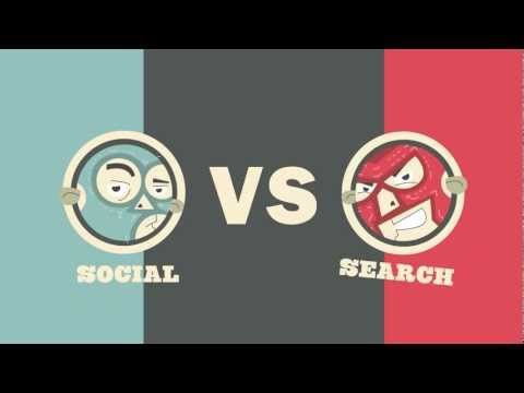 Social vs Search Smackdown: A Battle of Internet Marketing Titans [Video Infographic] | PopScreen
