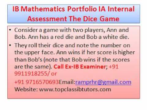 ib math sl type ii sample portfolio Ib mathematics higher level subject brief  sample questions the ib diploma programme mathematics higher level  portfolio two individual pieces of.