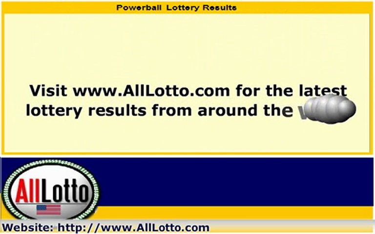 Powerball Lottery Drawing Results for April 30, 2011 | PopScreen