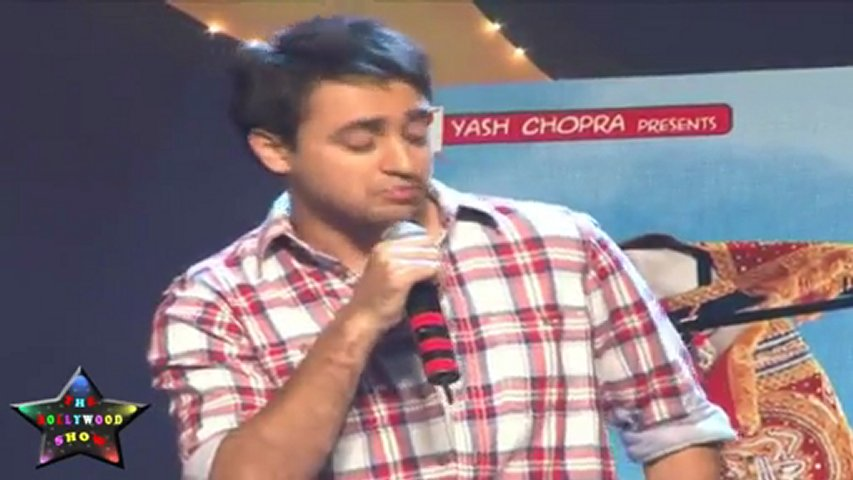 Dashing Imran Khan IN Red Checks Shirt At Music Launch