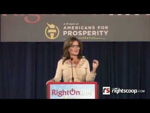 Governor Sarah Palin keynote at Right Online 2012