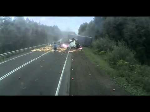 INSANE Runaway Truck Car Crash Fire Caught on Tape Video Freeway Semi No Brakes | PopScreen
