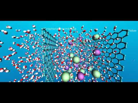 Desalinating saltwater using a single sheet of porous graphene | PopScreen