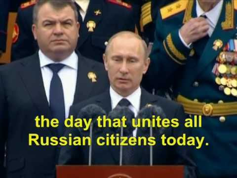 Putin Victory Day Speech May 9, 2012 (English subtitles) | PopScreen
