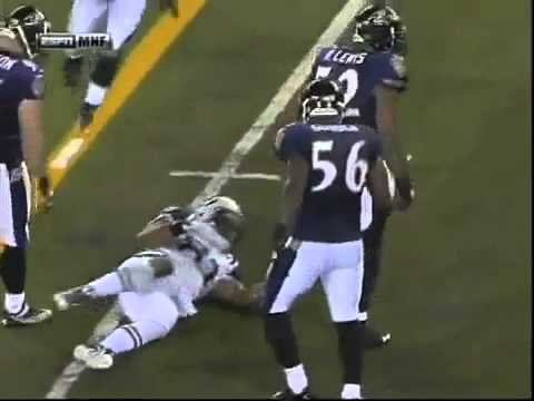 RAY LEWIS KILLS RECIEVER | PopScreen