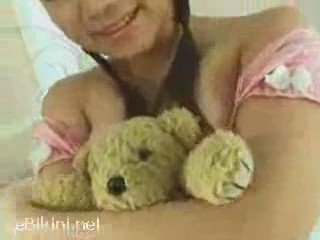 Sexy Busty Japanese with Teddy | PopScreen