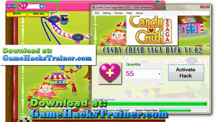 CANDY CRUSH CHEATS - Unlimited Lives Candy Crush Cheat 2012
