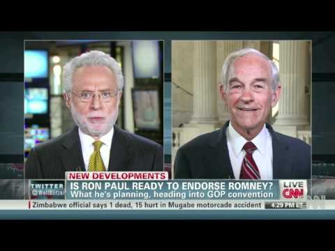 Are you ready to endorse Mitt Romney? Ron Paul:
