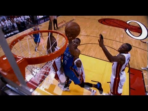 Russell Westbrook's Dominates the Heat in Game 4 Loss - 2012 NBA Finals | PopScreen