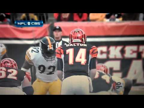 Troy Polamalu big hit on Hawkins | PopScreen