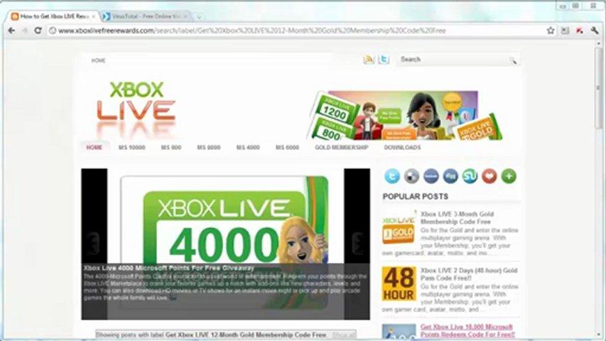free xbox live redeem codes list