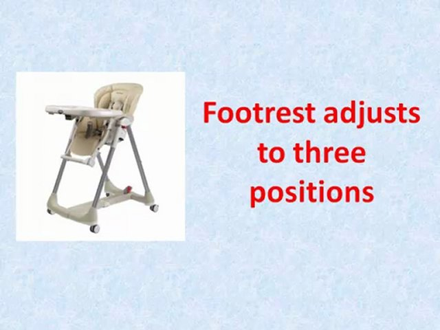 peg perego high chair instructions