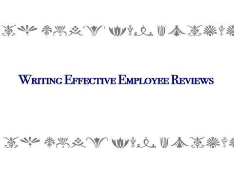 how to write employee reviews Is this common if you look at this company, all of the positive reviews all appeared within 3 days of each other i worked there in 2012 and it.