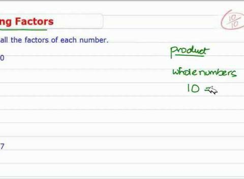 how to find number of factors of a number