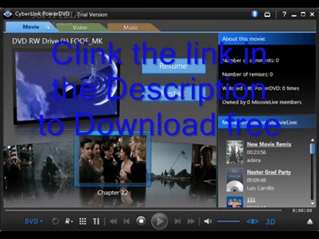 Cyberlink powerdvd 12 ultra free download with crack, cyberlink powerdvd 12