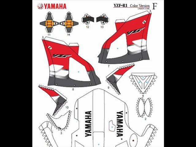 Yamaha Papercraft | PopScreen