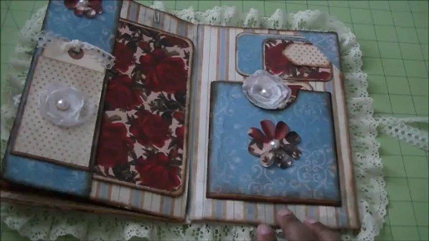 Envelope Mini Album Scrapbook Roses are Red PopScreen