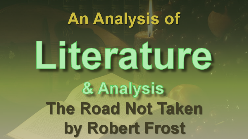 an analysis of robert frosts poems Claremont mckenna college poetic labor: meaning and matter in robert frost's poetry submitted to robert faggen and dean peter uvin by lina pan for senior thesis spring 2016 april 25, 2016.