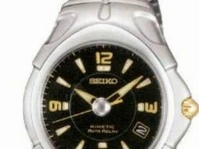 Seiko Men's Kinetic Auto Relay watch #SMA035 | PopScreen