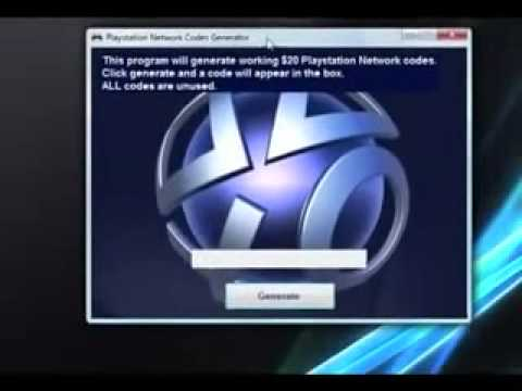 PSN Code Card Generator New Working UPDATE (2012) | PopScreen