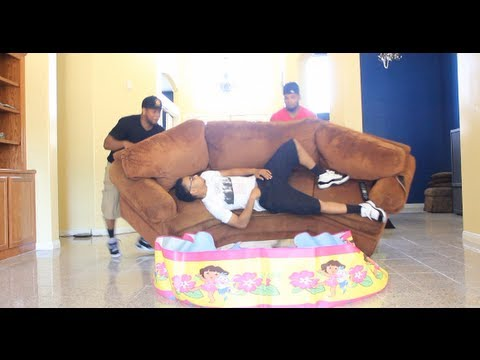 SLEEPING FRIEND THROWN IN POOL PRANK | PopScreen