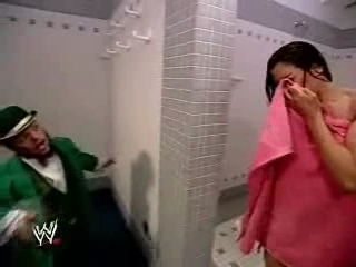 Hornswoggle & Melina Shower Segment from RAW 9-24-07 | PopScreen