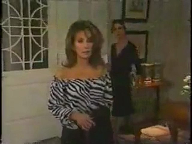 Erika almost knocks out Barbara in one slap, TV Catfight.