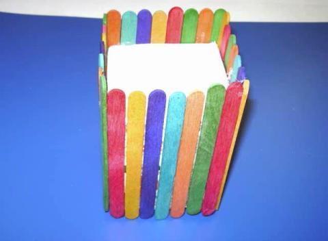 how to make pencil holder with ice cream sticks