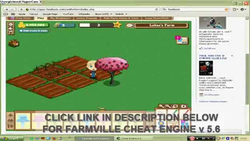 Farmville Cheat Engine 5.6 -- How to Hack Money and Level 70