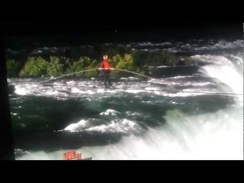 Nik Wallenda walking over the Niagara Falls on a TIGHT ROPE!!! MUST SEE THIS DARE DEVIL Part II | PopScreen
